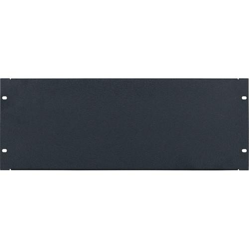 Lowell Manufacturing Rack Panel-Blank-4U, 16Ga Flanged Aluminum (Textured Black)