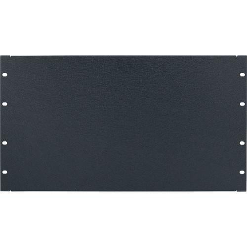 Lowell Manufacturing Rack Panel-Blank-6U, 16Ga Flanged Aluminum (Textured Black)