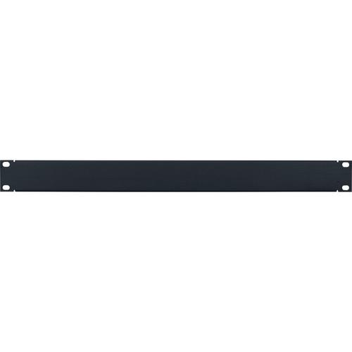 Lowell Manufacturing Rack Panel-Blank-1U, Flanged (Brushed Black Anodized Aluminum)