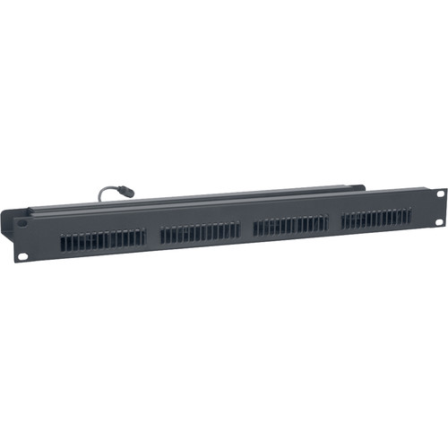 "Lowell Manufacturing Rackmount Panel with Blower Fans, 19"" x 1U, 4 Fans (3.5"") with Guards, 90CFM Total"