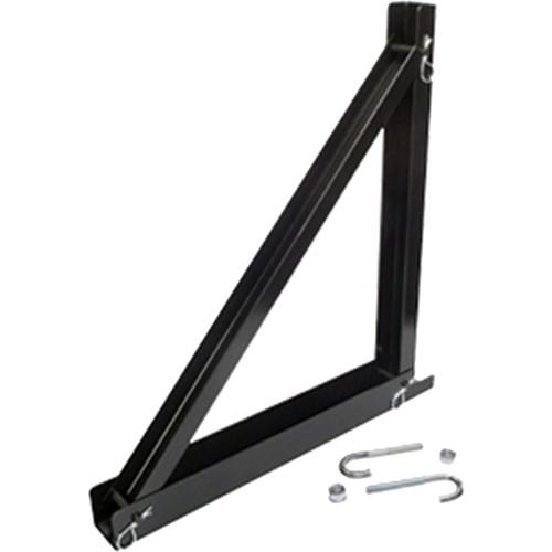 "Lowell Manufacturing 12"" Wall Triangle Bracket, Steel (Black)"