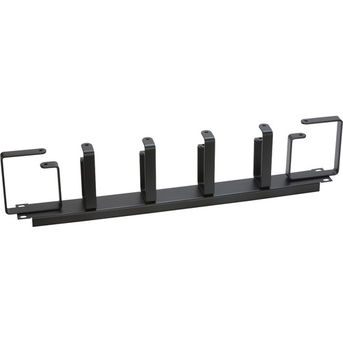 Lowell Manufacturing Cable Management Panel-1U, Horizontal/Vertical D-Rings