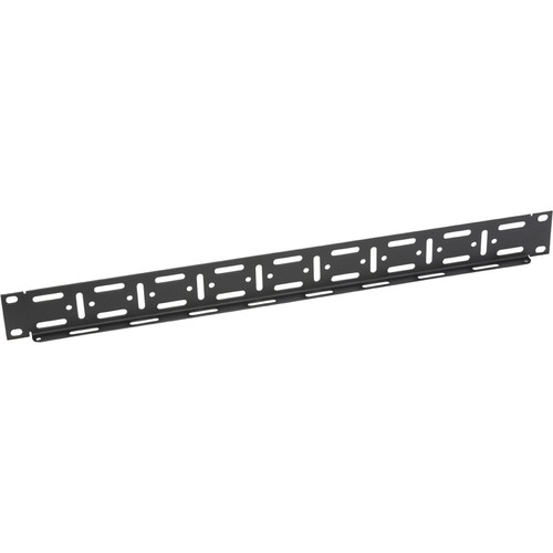 Lowell Manufacturing Cable Mgmt Pnl-Slotted 1U (Smooth Black, 10-Pak)