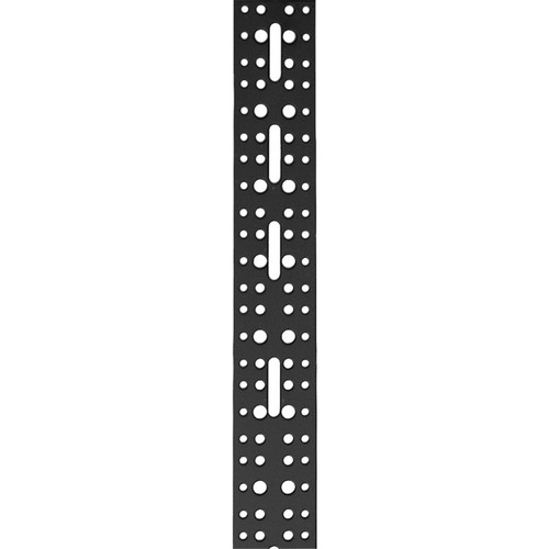 """Lowell Manufacturing Cable Mgmt Vertical Bar, Lacer Strip, 2"""" x 18U, 6-Pak"""