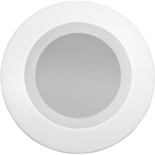 """Lowell Manufacturing Grille for 8"""" Speaker, Steel, Torsion Mount, 12.5"""" Dia, (White)"""
