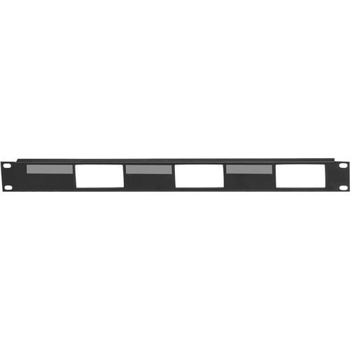 Lowell Manufacturing Rack Panel-Decorator-1U, Mounts 3 Devices, 16GA Flanged Steel (Black)