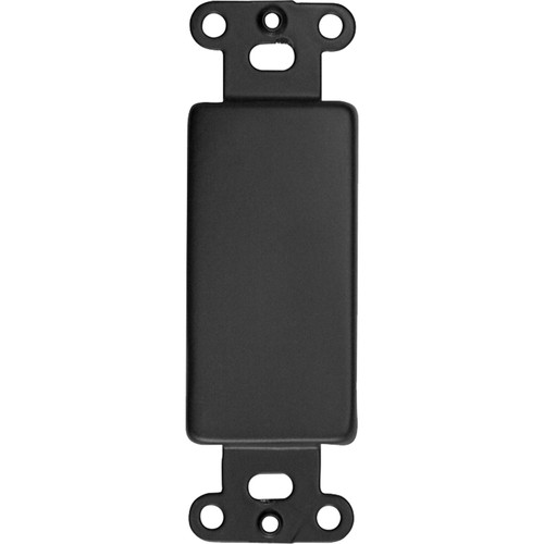 Lowell Manufacturing Rack Panel-Decorator Blank Plates, 100-Pack (Black)