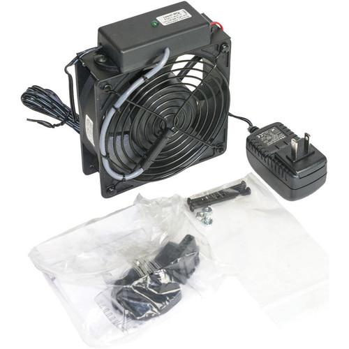 Lowell Manufacturing DC Single Fan Kit:4.7' Fan,Universal Power Supply/4 Adaptors/Thermostat Probe