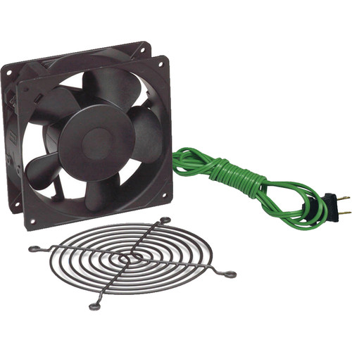 "Lowell Manufacturing Fan Kit-Single 4.7"" Whisper Fan, 50CFM, Fan Guard with Thermostat Cord (US)"