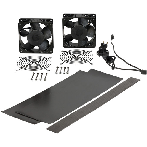 "Lowell Manufacturing Fan Kit : 2-4.7"" Whisper Fans, 50CFM Each, Fan Guards,Cord,Vent Blockers, for Lower Rack (US)"