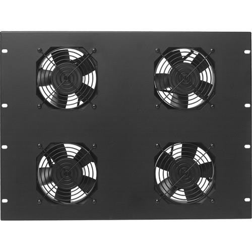 "Lowell Manufacturing Fan Panel: 7U - 4.7"" Whisper Fans, 50CFM Each, Fan Guards, Thermostat Cord"