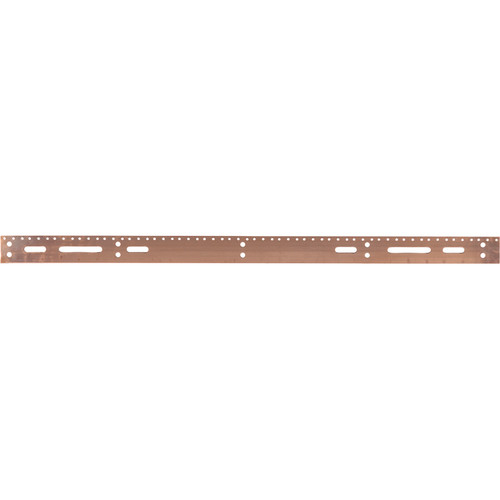 """Lowell Manufacturing Grounding Bus Bar-36"""" Long (Copper)"""