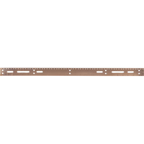 """Lowell Manufacturing Grounding Bus Bar-72"""" Long (Copper)"""