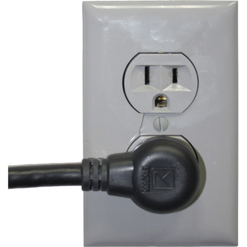 """Lowell Manufacturing IEC Power Cord ,90-Degree-Left-Plug - 12"""""""