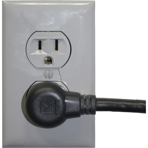 """Lowell Manufacturing IEC Power Cord ,90-Degree-Right-Plug - 12"""""""