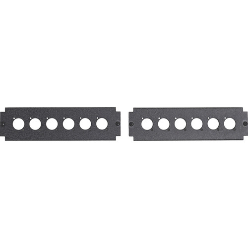 Lowell Manufacturing Knockout Panels for 6 Neutrik D-Series Connectors (Pair)