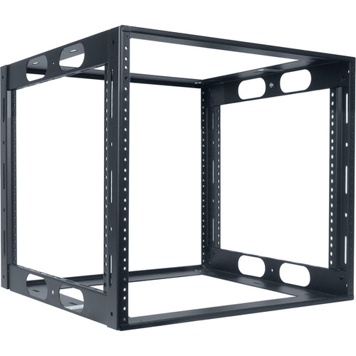 "Lowell Manufacturing Rack-Credenza-10U, 16"" Deep, Fully Welded (Black)"