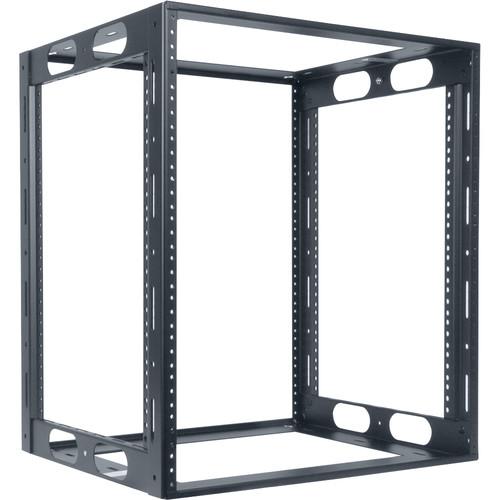 "Lowell Manufacturing Rack-Credenza-12U, 16"" Deep, Fully Welded (Black)"