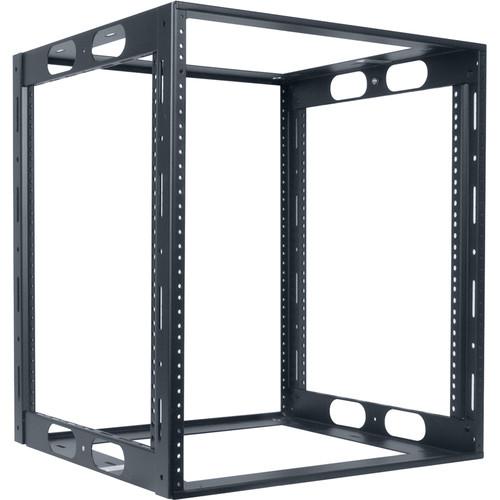 "Lowell Manufacturing Rack-Credenza-12U, 18"" Deep, Fully Welded (Black)"