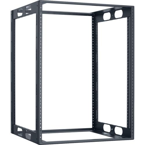 "Lowell Manufacturing Rack-Credenza-14U, 16"" Deep, Fully Welded (Black)"