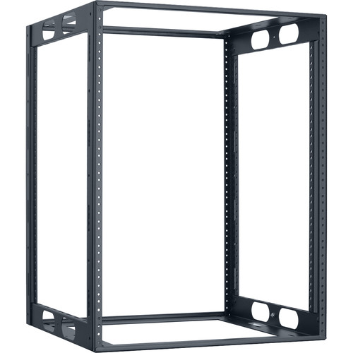 "Lowell Manufacturing Rack-Credenza-14U, 18"" Deep, Fully Welded (Black)"