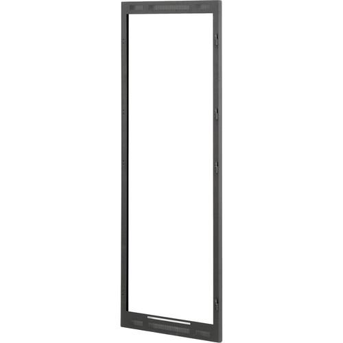 Lowell Manufacturing Door-Dual Frame-24U (10U Top Door, 14U Bottom Door) Black