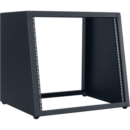 "Lowell Manufacturing Rack-Desktop Sloped-10U / 18"" Deep (Black)"