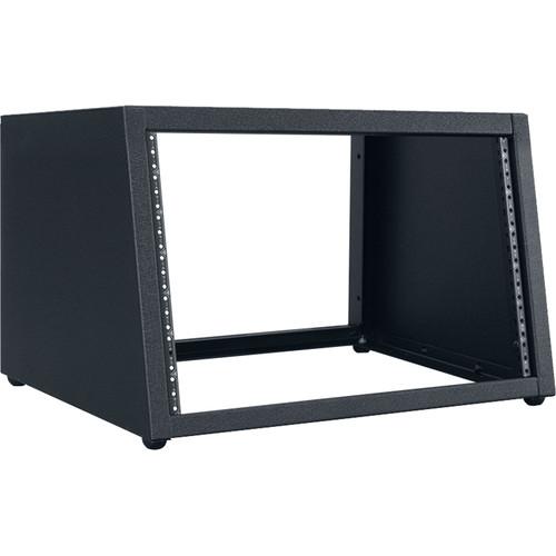 "Lowell Manufacturing Rack-Desktop Sloped-7U / 18"" Deep (Black)"