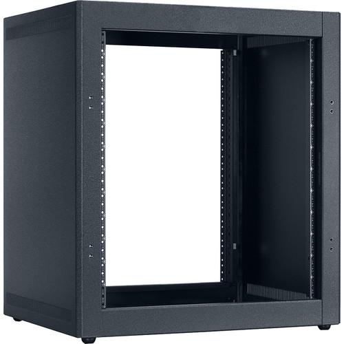 "Lowell Manufacturing Rack-Desktop-12U, 18"" Deep, Front/Rear Rails (Black)"