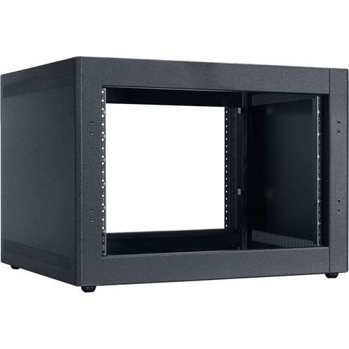 "Lowell Manufacturing Rack-Desktop-7U, 18"" Deep, Front/Rear Rails (Black)"