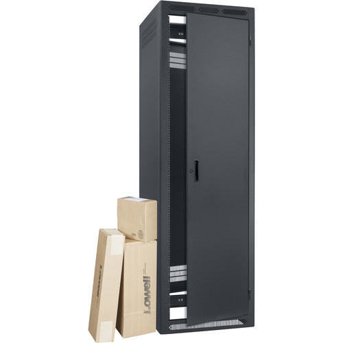"""Lowell Manufacturing LER Rack-40U, 27"""" Deep, with AV Accessory Bundle (Not Installed)"""