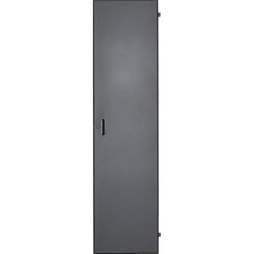Lowell Manufacturing Door-Solid Front-16U, Locking (Black)