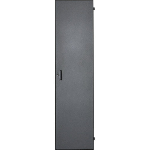 Lowell Manufacturing Door-Solid Front-18U, Locking (Black)