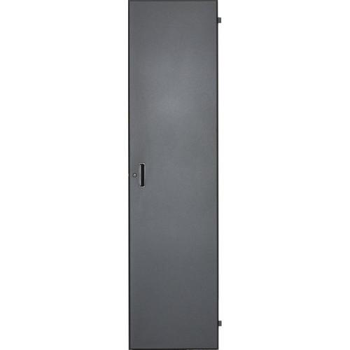 Lowell Manufacturing Door-Solid Front -  40U, Locking (Black)