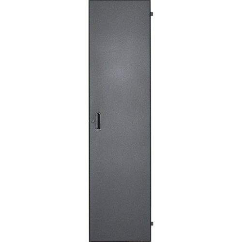 Lowell Manufacturing Door-Solid Front - 7U, Locking (Black)