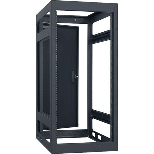 "Lowell Manufacturing Rack-Narrow-Gangable-24U, 32""Deep, Rails, Rear Door (Black)"