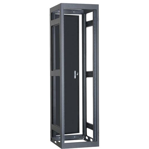 "Lowell Manufacturing Rack-Narrow-Gangable-40U, 32""Deep, Rails, Rear Door (Black)"