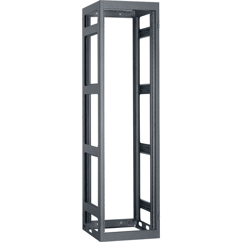 "Lowell Manufacturing Rack-Narrow-Gangable-44U, 36""Deep, 2-Pair Rails (Black)"