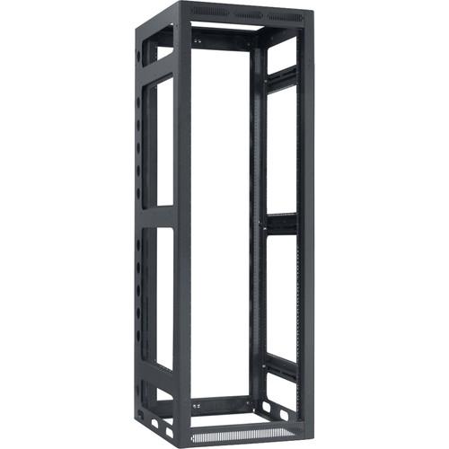 "Lowell Manufacturing Rack-Gangable-35U/27""Deep, 2-Pair Rails, Less Rear Door (Black)"