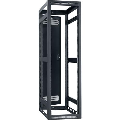 "Lowell Manufacturing Rack-Gangable-40U/32""Deep, 2-Pair Rails, Rear Door (Black)"