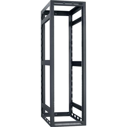 "Lowell Manufacturing Rack-Gangable-40U/42""Deep, 2-Pair Rails, Less Rear Door (Black)"