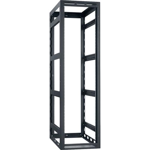 "Lowell Manufacturing Rack-Gangable-44U/32""Deep, 2-Pair Rails, Less Rear Door (Black)"