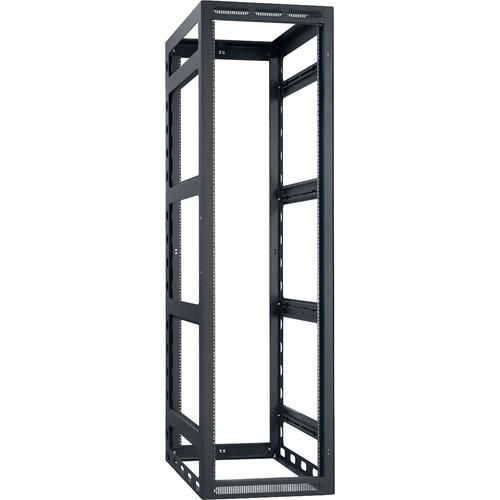 "Lowell Manufacturing Rack-Gangable-44U/42""Deep, 2-Pair Rails, Less Rear Door (Black)"