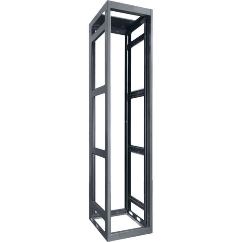 "Lowell Manufacturing Rack-Gangable-Tall-54U, 32""Deep, Rails (Black)"