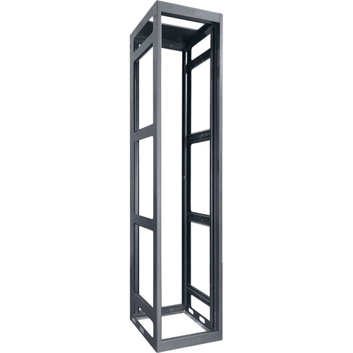 "Lowell Manufacturing Rack-Gangable-Tall-54U, 36""Deep, Rails (Black)"