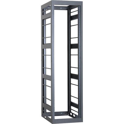 "Lowell Manufacturing Rack-Gangable-Video-44U, 36""Deep, Rails (Black)"