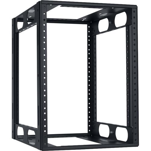 "Lowell Manufacturing Half-Rack, 8U, 14"" Deep (Black)"