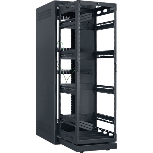 """Lowell Manufacturing Rack-Rollout/Rotating System-35U/32"""" Deep (Black)"""