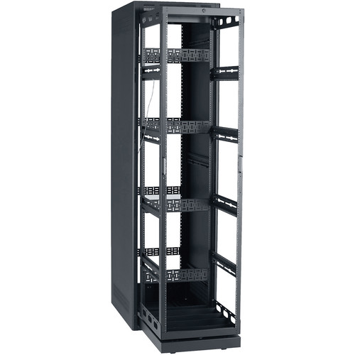 """Lowell Manufacturing Rack-Rollout/Rotating System-44U/32"""" Deep (Black)"""