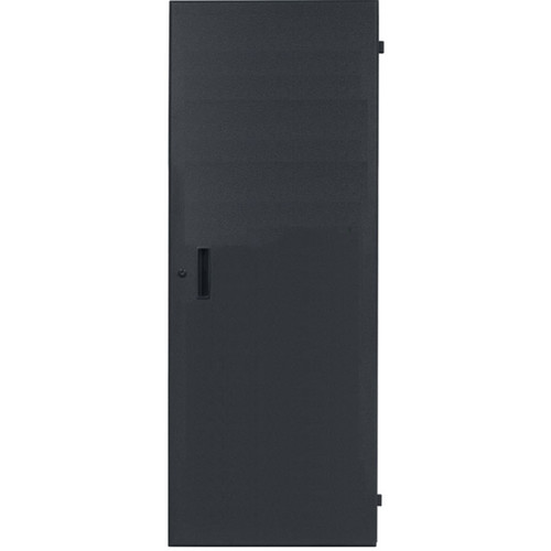 Lowell Manufacturing Rack Front Door - Solid-24U, fits LHR Series, Locking (Black)